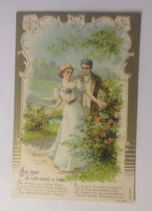 Frauen, Männer, Mode, Liebe,  1900, Prägekarte  ♥ (70674)