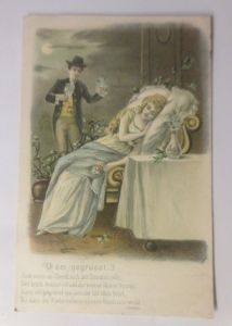 Frauen, Männer, Mode, Liebe, 1904, Prägekarte  ♥ (70672)