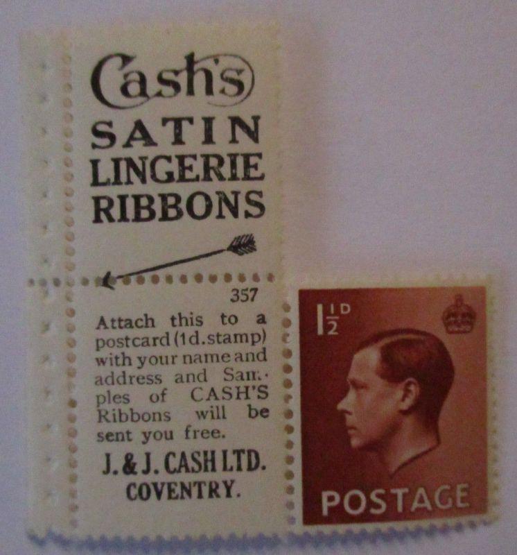 Großbritannien,King Edward, Werbung ZD xx Cash´s Satin Lingerie Coventry (43976)