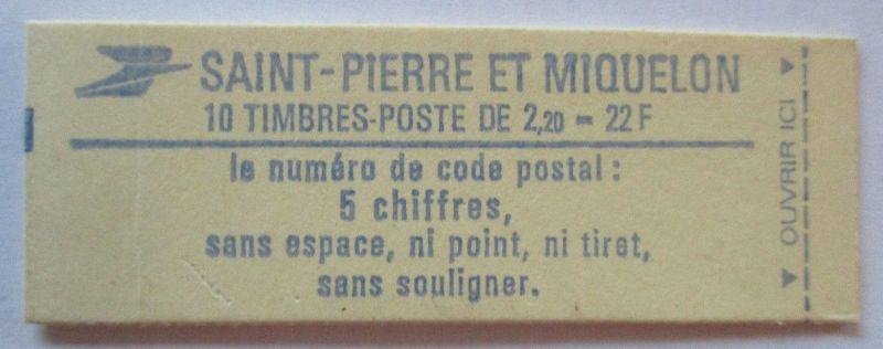 St. Pierre et Miquelon, Markenheftchen postfrisch (33633)