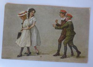 Künstlerkarte,  Studentika,  Frauen, Studenten, 1910, R. Borrmeister ♥ (80101)