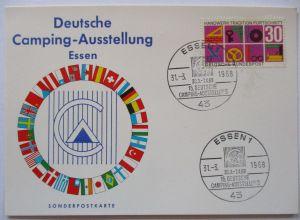 Deutsche Camping Ausstellung Essen 1968, Sonderkarte (1017)