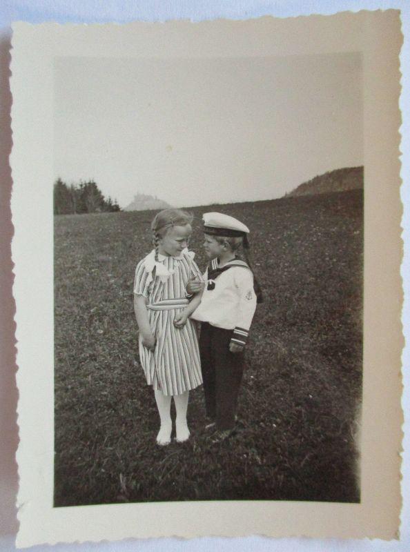 Kinder Mode Matrosenanzug, original Foto (36490)