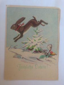 Ostern, Winterlandschaft, Hase, Ostereier,  1940, Hanns Müllner ♥ (70830)