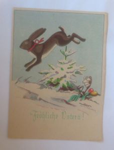 Ostern, Winterlandschaft, Hase, Ostereier,  1940, Hanns Müllner ♥ (70829)
