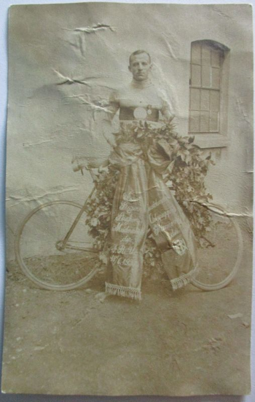 Fahrrad, RV Hannover, Sieger Strassenmeisterschaft 1922 Fritz Kramer (28099)