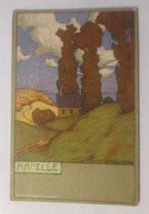 Künstlerkarte, Kapelle,  Litho.  1900, Ernst Liebermann ♥ (70668)