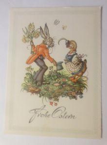Ostern, Personifiziert, Osterhase, Ente, Blumen,    1945 ♥ (70971)