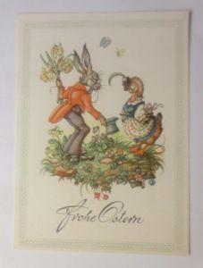 Ostern, Personifiziert, Osterhase, Ente, Blumen,    1945 ♥ (70967)