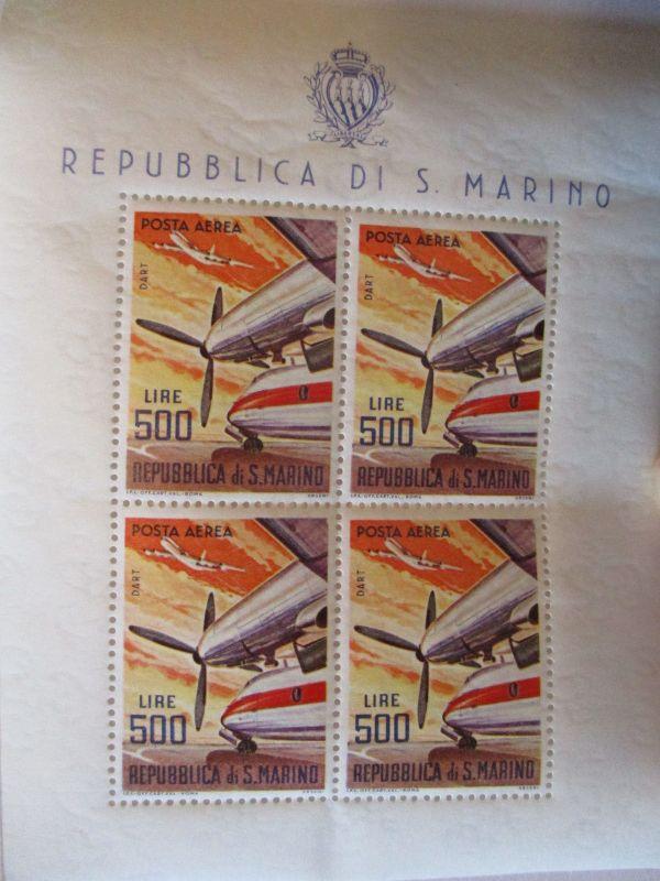 San Marino, Kleinbogen Flugzeug Dart postfrisch (22961)