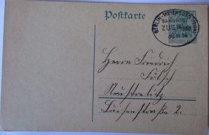 D.Reich, Bahnpost Berlin-Meyenburg Zug 650, 1914 (12961)