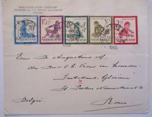 Niederlande 565-569 Voor het Kind FDC 1950, Michel 250,00 Euro (57452)