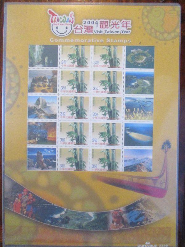 Taiwan, Greeting stamps 2003 im Kleinbogen von 2004 im Folder