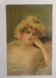 Künstlerkarte, Frauen, Mode, Erotik, 1909, Beautiful Heads Serie Nr.5461♥(70936)