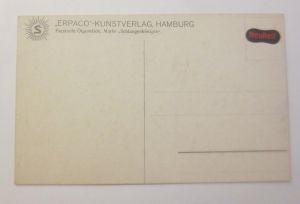 Künstlerkarte, Jugendstil, Landschaft Schwalbe, Blumen,1900, Prägekarte ♥(70692)