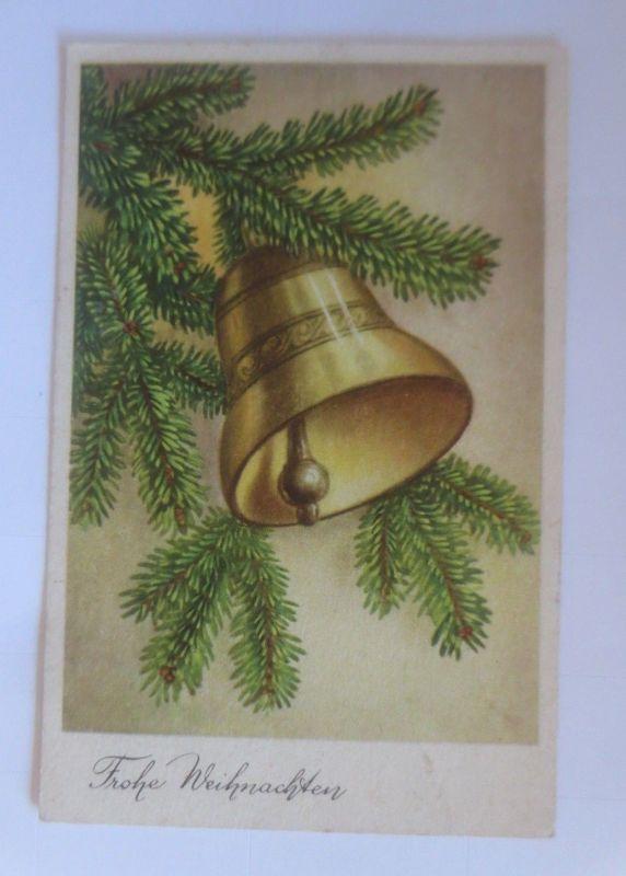 Weihnachten, Glocke, Tannenzweig, 1930, ♥ (80026)