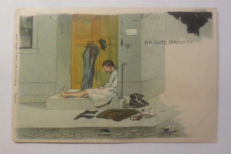 Künstlerkarte, Na, Gute Nacht,  1902    ♥ (70682)