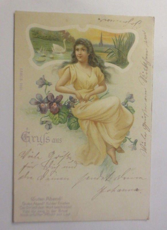 Frauen, Mode, Blumen, Jugenstil, 1902    ♥ (70680)