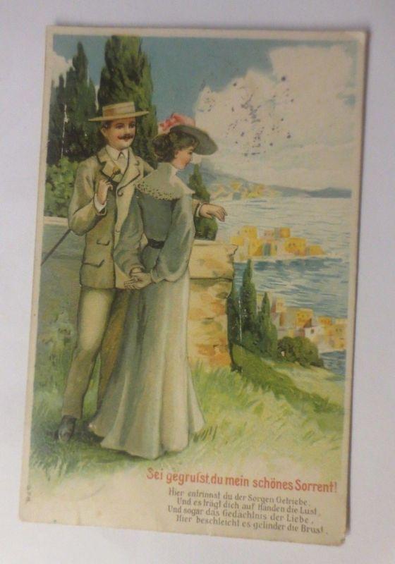 Frauen, Männer, Liebe, 1906,   Prägekarte    ♥ (70678)