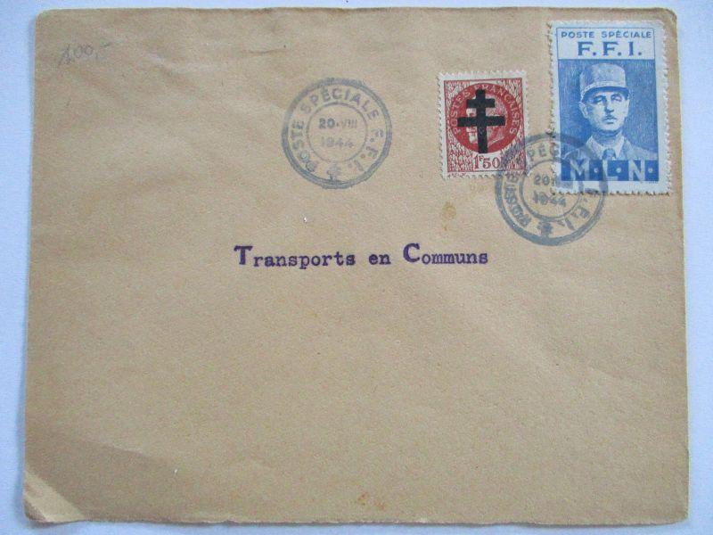 Frankreich France Lokal Überdruck Vignette FFI Poste Speciale 1944 (28927)
