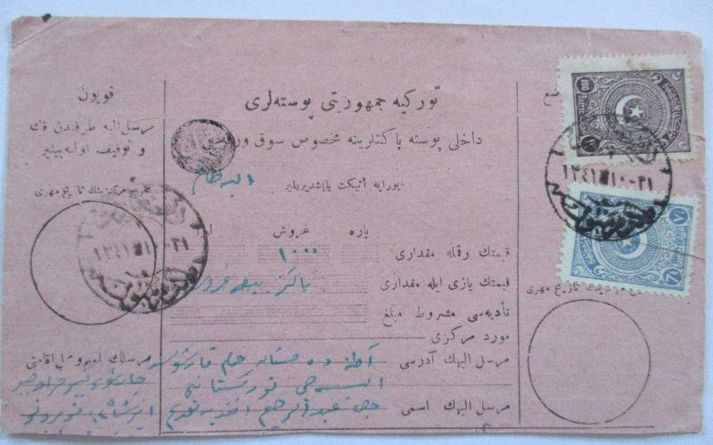 Türkei, frankierte Postanweisung ca. 1920 (10252)