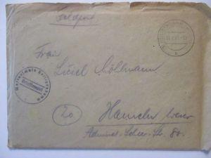 Heiligendamm 1945, Marineschule, Feldpost mit Briefinhalt (64553)