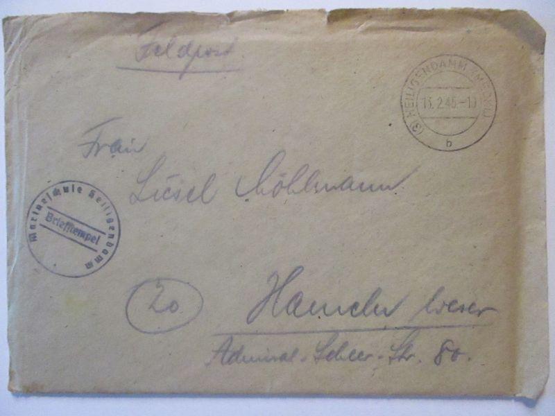 Heiligendamm 1945, Marineschule, Feldpost mit Briefinhalt (64553) 1