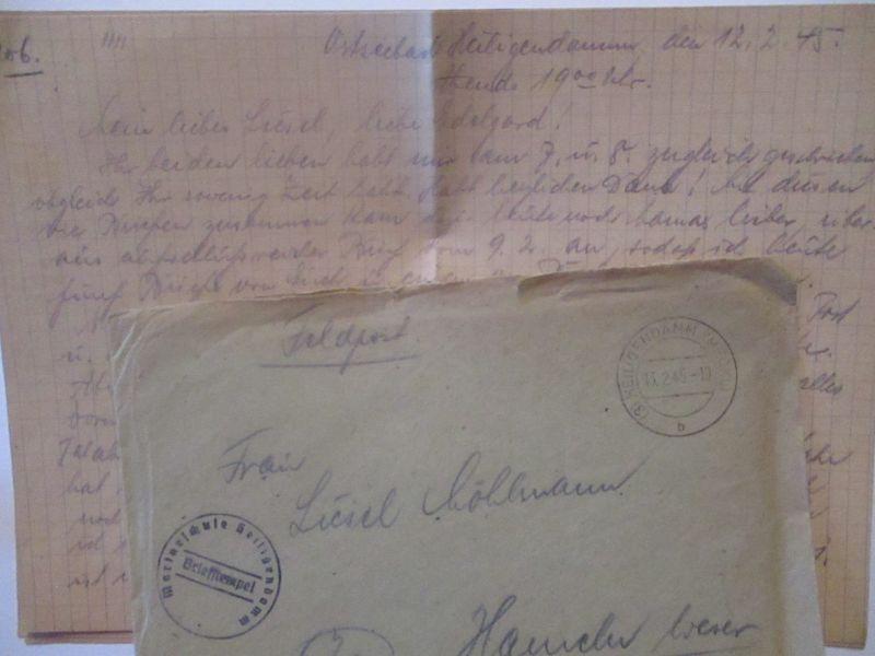 Heiligendamm 1945, Marineschule, Feldpost mit Briefinhalt (64553) 2