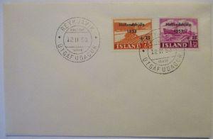 Island, Nr.285-286 Hochwasser Niederlande FDC 1953 (22352)