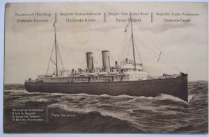 Belgien Paquebot Ganzsache Dampfer Pieter Deconinck ungebraucht (22818)