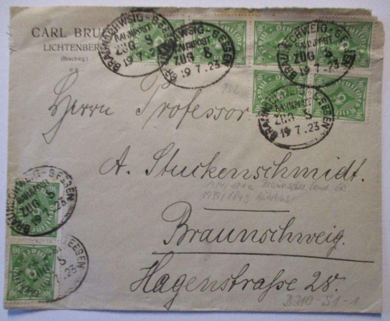Bahnpost Braunschweig Seesen 1923 (57326)
