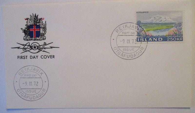 Island, Nr.460 Freimarke Wappen FDC 1972 (49124)