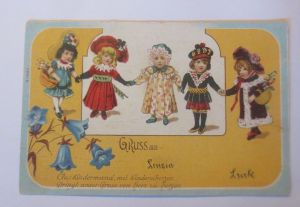 Kinder, Mode, Gruß aus Lenzia,   1900  ♥ (26876)