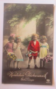 Geburtstag, Kinder, Mode, Blumen,    1927 ♥ (80171)