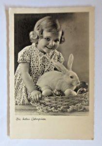 Ostern, Kinder, Korb, Ostereier, Hase,   1941 ♥ (80170)