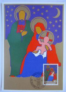 Weihnachten Maria und Josef, Maximumkarte Liechtenstein 1981 (33192)