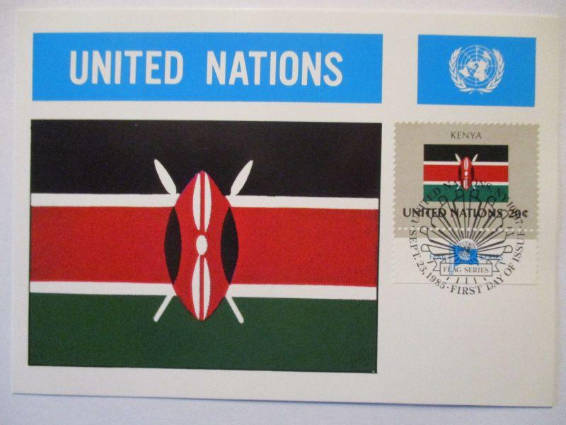 UNO Flaggen Maximumkarte 1983 Kenya (70555)