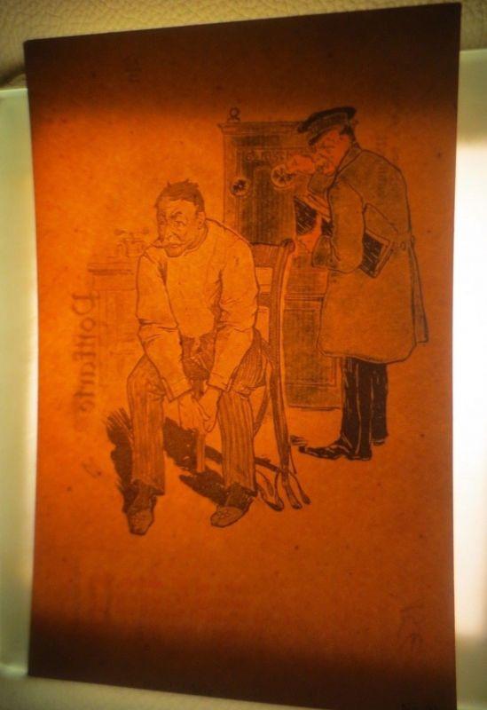 Halt gegen das Licht, Männer, Stuhl,  1909 ♥ (4372)