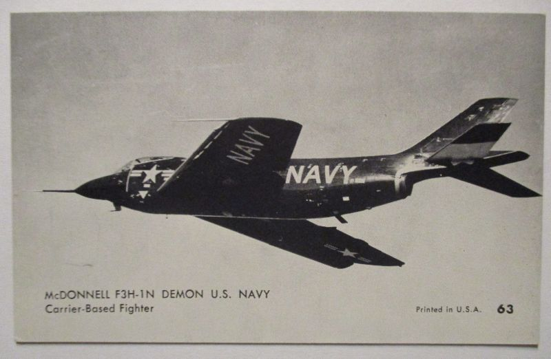 Flugzeuge USA, Mutoscope Card ca.50er Jahre McDonnell F3H-1 N Demon (2798)