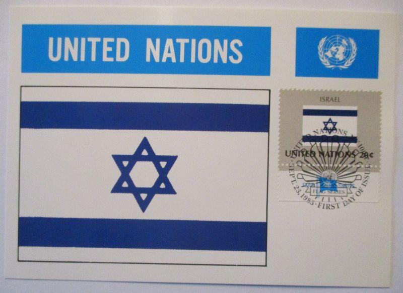 UNO Flaggen Maximumkarte 1983 Israel (8918)