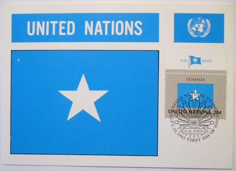 UNO Flaggen Maximumkarte 1983 Somalia (63217)