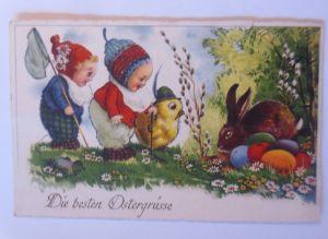 Ostern, Kinder, Mode, Küken, Hase, Ostereier,  1930 ♥ (20703)