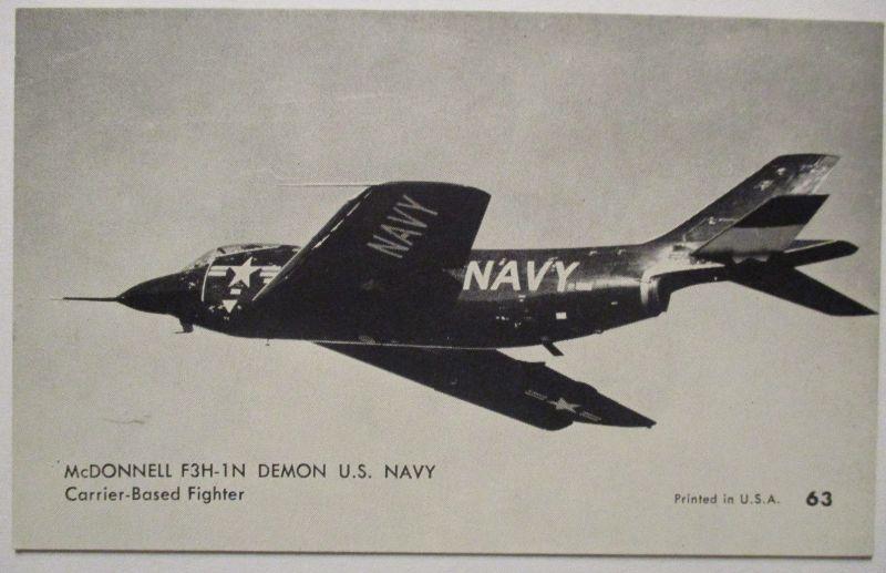 Flugzeuge USA, Mutoscope Card ca.50er Jahre McDonnell F3H-1N Demon (503)