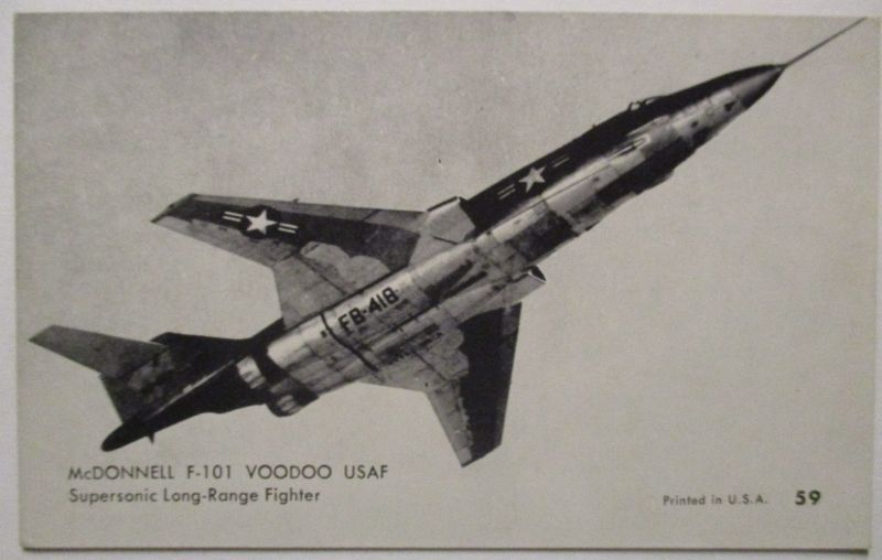 Flugzeuge USA, Mutoscope Card ca.50er Jahr, McDonnell F-101 Voodoo USAF (3617)
