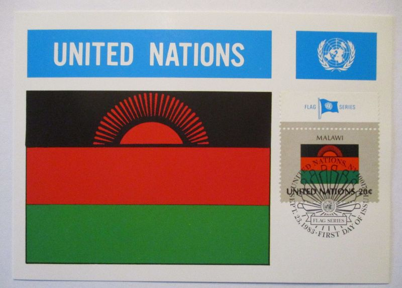 UNO Flaggen Maximumkarte 1983 Malawi (65083)