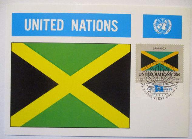 UNO Flaggen Maximumkarte 1983 Jamaica (40112)