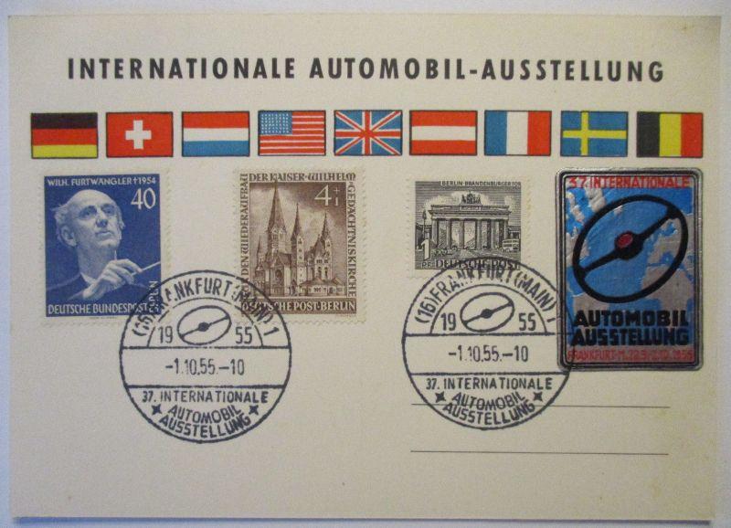 Auto, Internationale Automobilausstellung IAA Frankfurt 1955 Vignette (49254)