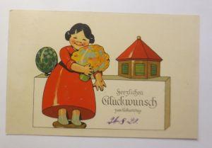 Geburtstag, Kinder, Mode, Blumen,  1920  ♥ (71290)