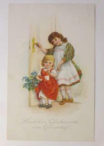 Geburtstag, Kinder, Mode, Blumen,  1913  ♥ (71289)