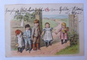 Kinder, Mode, Spielen, Puppe,  1906  ♥ (71240)